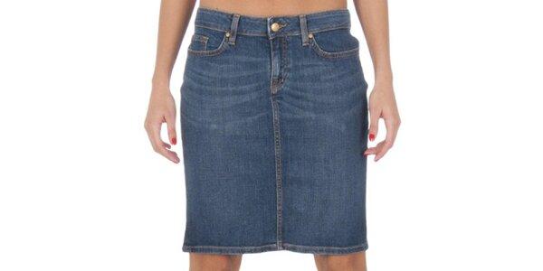 Dámská krátká modrá džínová sukně Tommy Hilfiger