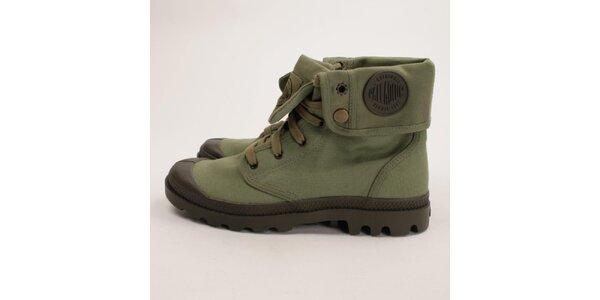 Pánské zelené ohrnovací boty Palladium
