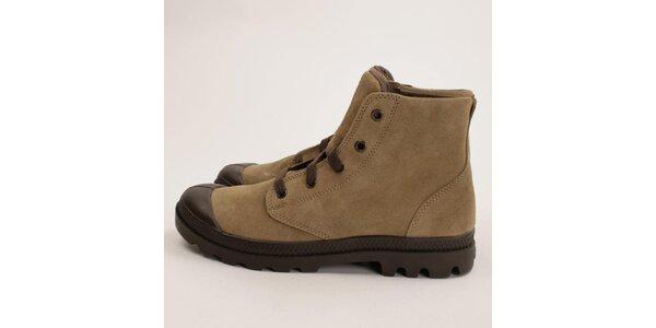 Dámské světle hnědé semišové boty Palladium
