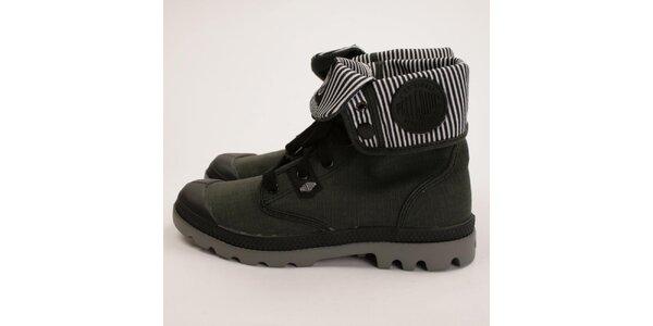 Dámské zelené kotníkové boty Palladium