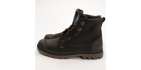 Dámské tmavé kotníkové boty Palladium