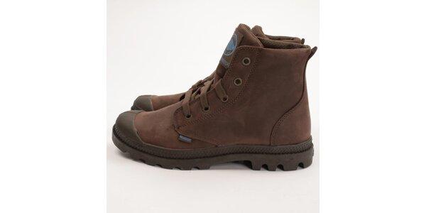 Dámské čokoládově hnědé boty Palladium
