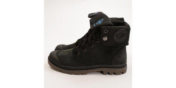 Dámské tmavé kotníčkové boty Palladium