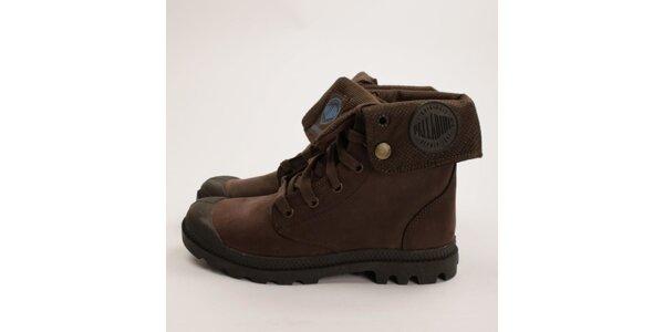 Dámské hnědé kotníkové boty Palladium
