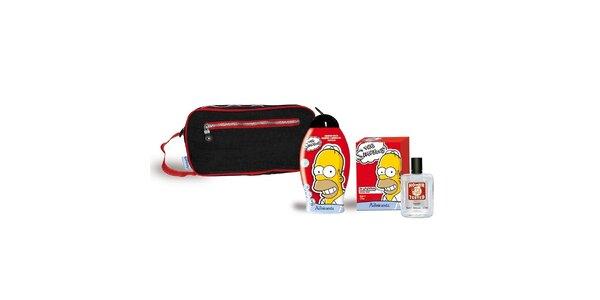 Dárková sada SIMPSONS .Kosmetická taška+ šampón 250ml+ EDT