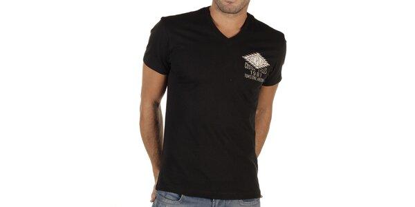 Pánské černé tričko s potiskem Replay