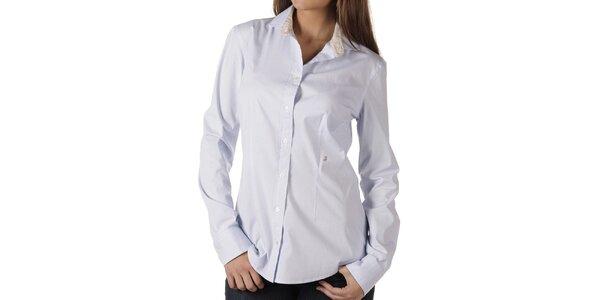 Dámská světle modrá košile s proužky Replay