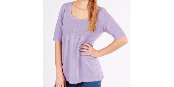Dámský fialkový volný svetřík Emma Pernelle