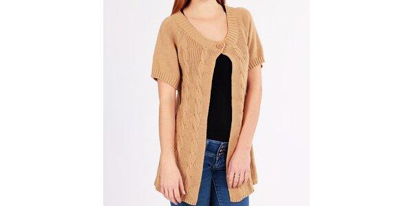 Dámský béžový svetr pletený Emma Pernelle