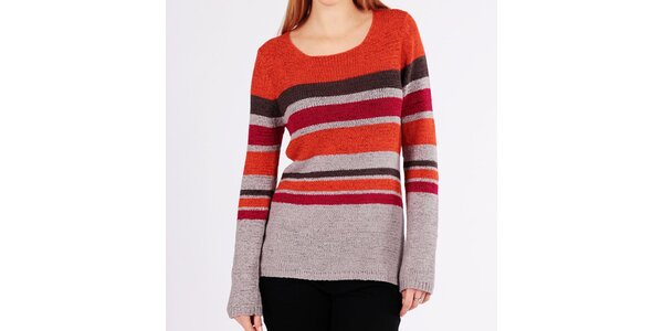 Dámský barevný pruhovaný svetr Emma Pernelle