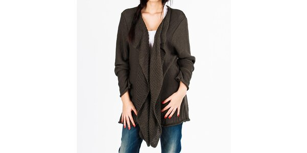 Dámský volný pletený šedý svetr Vétissimo