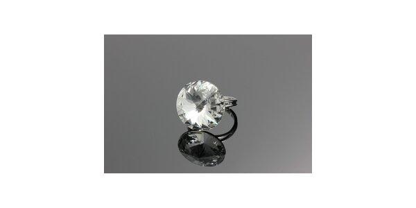 Dámský prsten s kulatým krystalem Swarovski