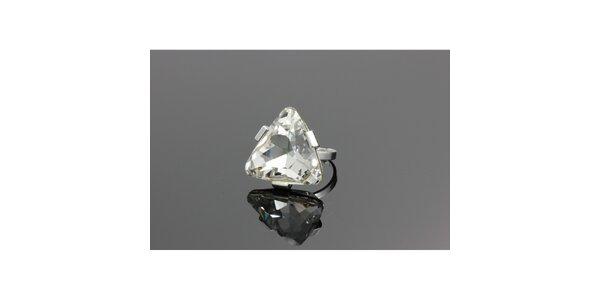 Dámský stříbrný prstýnek s krystalem Swarovski