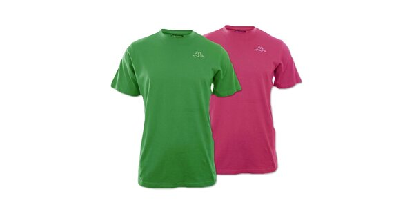 Set dvou pánských triček Kappa - fuchsiové, zelené