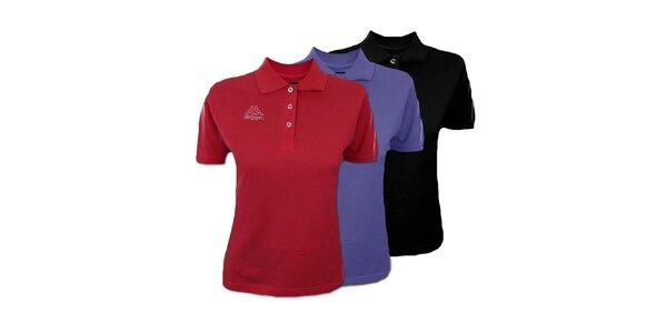 Set tří dámských polo triček Kappa - černé, fialové, červené
