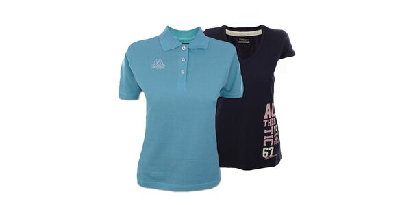 Set dvou dámských modrých triček Kappa
