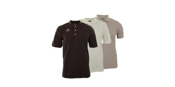 Set tří pánských polo triček Kappa - béžové, smetanové, hnědé