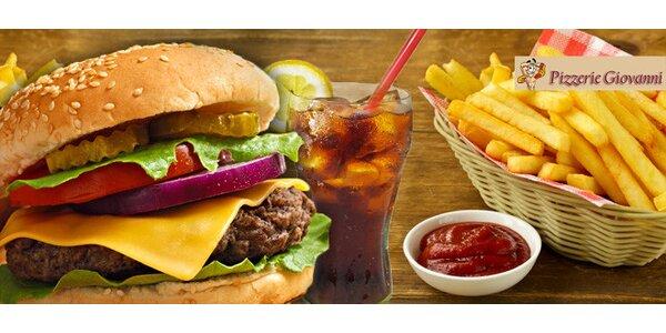 50% sleva na Giovanni Mega Burger Menu