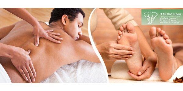 Blahodárná masáž nohou či těla U bílého slona