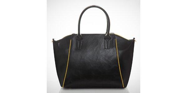 Dámská černá kabelka s kontrastními zipy Felice