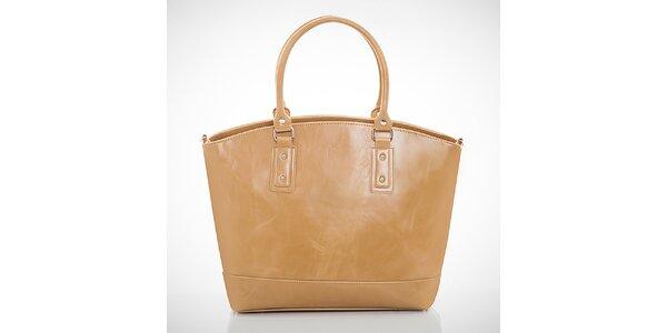 Dámská béžová kabelka s jemným žíháním Felice