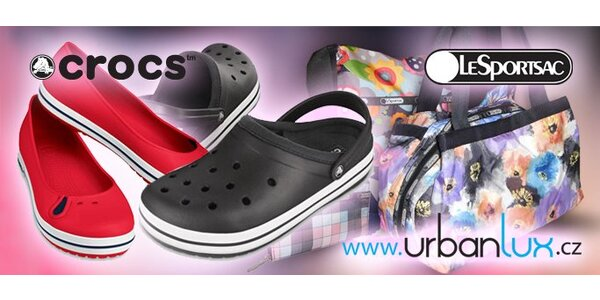 249 Kč za poukaz v hodnotě 500 Kč na nákup obuvi Crocs a tašek LeSportsac!