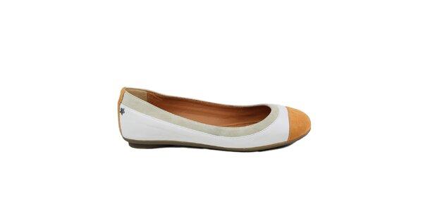 Dámské béžovo-bílé baleríny Cubanas Shoes