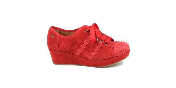 Dámské červené tenisky na platformě Cubanas Shoes