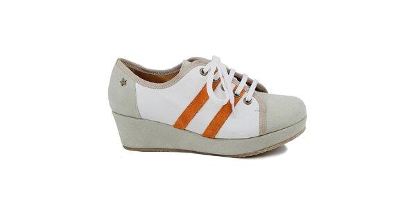 Dámské šedé tenisky na platformě Cubanas Shoes