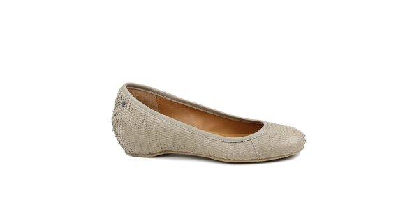 Dámské šedé baleríny Cubanas Shoes