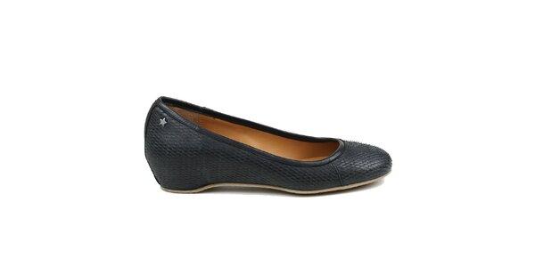 Dámské černé baleríny Cubanas Shoes