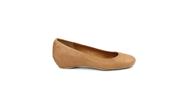 Dámské béžové baleríny Cubanas Shoes