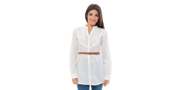 Dámská bílá košile s páskem