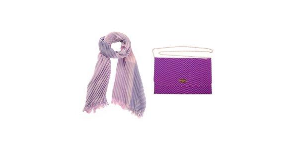 Dámský fialový šátek a psaníčko Invuu London