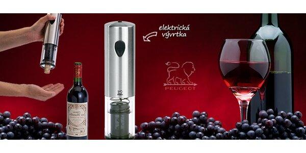Elektrická vývrtka na víno Peugeot
