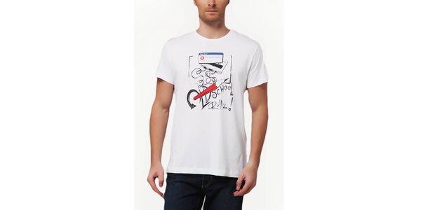 Pánské bílé tričko se školním potiskem Dogo