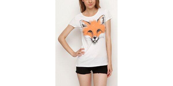 Dámské bílé tričko s liškou Dogo