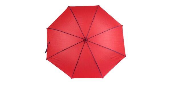Dámský červený deštník s fialovými lemy Ferré Milano