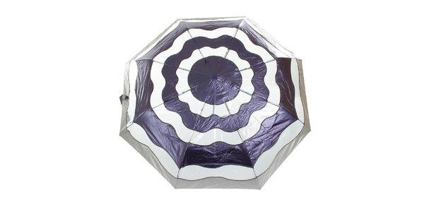 Dámský fialovo-stříbrný vystřelovací deštník Ferré Milano