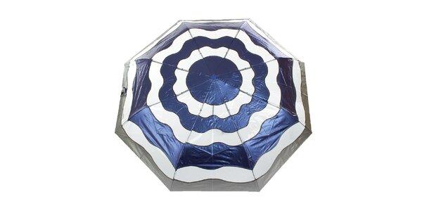 Dámský modro-stříbrný vystřelovací deštník Ferré Milano