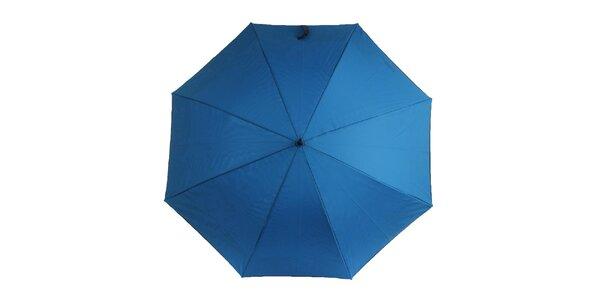 Dámský modrý deštník s vzorovaným vnitřkem Ferré Milano