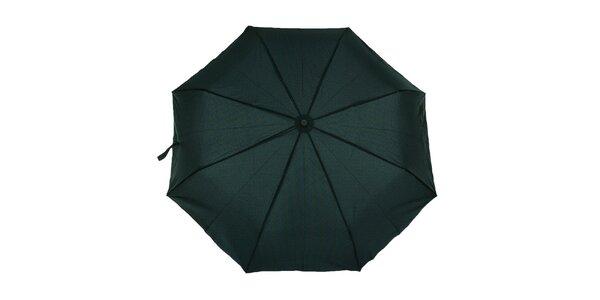 Pánský skládací deštník s modro-zeleným vzorem Ferré Milano