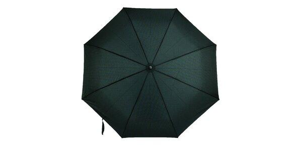 Pánský vystřelovací deštník s modro-zeleným vzorem Ferré Milano