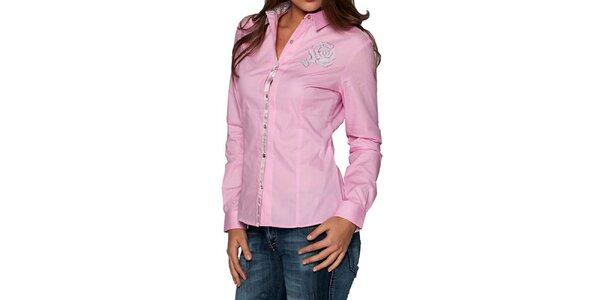 Dámská růžová košile s květinou Giorgie Di Mare