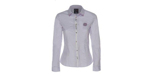 Dámská lila košile s výšivkou labutí Giorgio di Mare