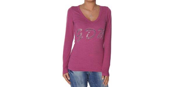 Dámské růžové tričko s flitry Giorgio di Mare
