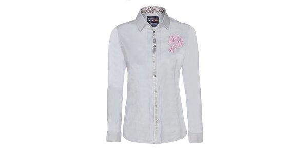 Dámská bílá košile s květinou Giorgie Di Mare