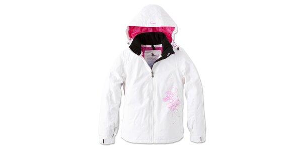 Dámská bílá zimní bunda s kytičkou Brunotti