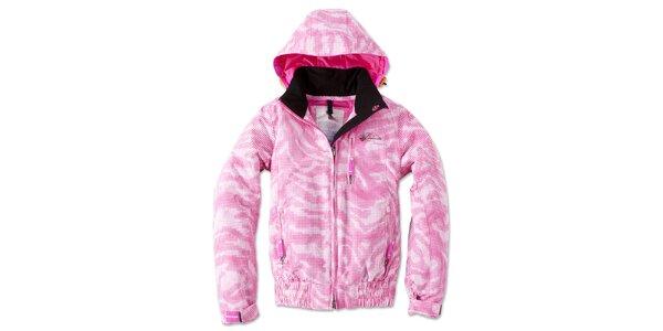 Dámská růžovo-bílá kostkovaná bunda Brunotti