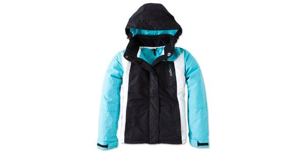 Dámská černo-tyrkysová zimní bunda Brunotti